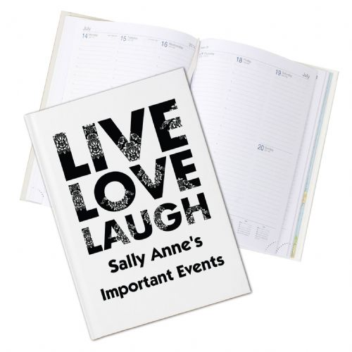 Personalised Live Laugh Love Hardback A5 Diary
